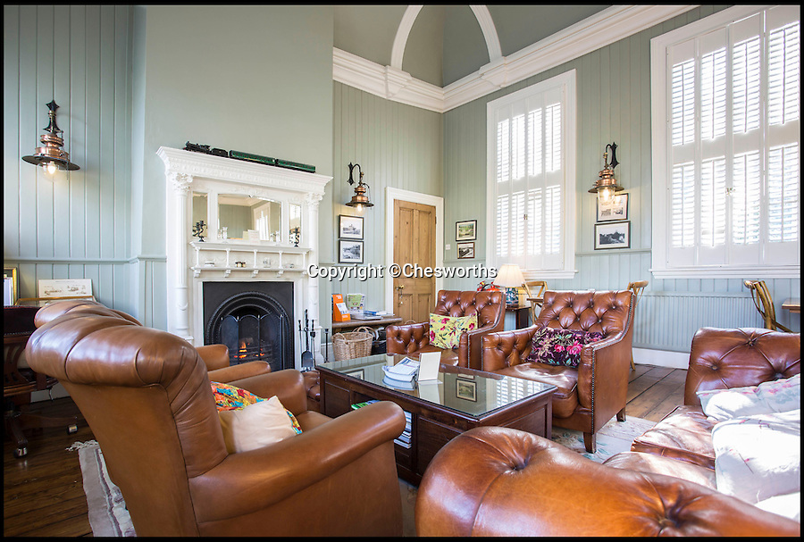 BNPS.co.uk (01202 558833)<br /> Pic: Chesworths/BNPS<br /> <br /> The interior of station house.<br /> <br /> An ornate 19th century railway station built just so the then Prince of Wales could go on weekend jaunts to the races has gone on sale for £1.5 million. <br /> <br /> It is 50 years since the last train departed from Petworth Railway Station, which has since been converted into an 11-bed luxury bed and breakfast. <br /> <br /> And this is because almost nobody other than the future King Edward VII had any call to use it.