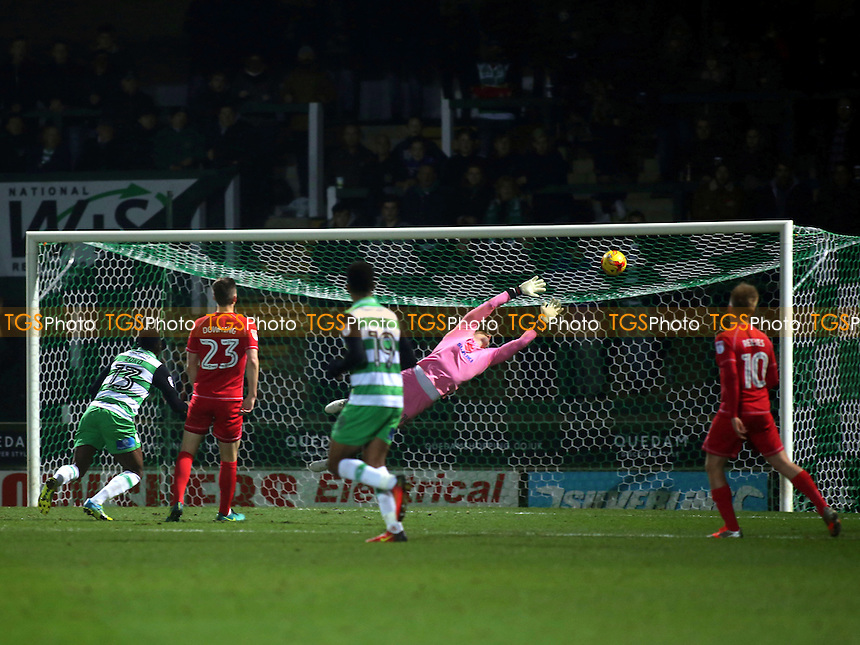 Yeovil score their third goal during Yeovil Town vs MK Dons, Checkatrade Trophy Football at Huish Park on 6th December 2016