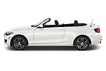 Car driver side profile view of a 2018 BMW 2 Series 230i Sport Line 2 Door Convertible