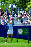 Lexi Thompson (USA) watches her tee shot on 1 during Sunday's final round of the 2017 KPMG Women's PGA Championship, at Olympia Fields Country Club, Olympia Fields, Illinois. 7/2/2017.<br /> Picture: Golffile | Ken Murray<br /> <br /> <br /> All photo usage must carry mandatory copyright credit (&copy; Golffile | Ken Murray)