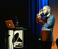 LOS ANGELES, CA- FEB. 08: Ben Ortiz at the From Compton to Cornell: Preserving The History of Hip Hop In the Hub City at the Grammy Museum in Los Angeles, California on February 8, 2018 Credit: Koi Sojer/ Snap'N U Photos/Media Punch