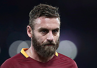 Calcio, ottavi di finale di Tim Cup: Roma vs Sampdoria. Roma, stadio Olimpico, 19 gennaio 2017.<br /> Roma&rsquo;s Daniele De Rossi reacts during the Italian Cup round of 16 football match between Roma and Sampdoria at Rome's Olympic stadium, 19 January 2017.<br /> UPDATE IMAGES PRESS/Isabella Bonotto