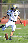 Torrance, CA 09/08/11 - Max MacLeay (Peninsula #5) in action during the North-Peninsula Junior Varsity Football game at North High School in Torrance.