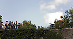 Photo shows visitors at the Ghibli Museum in Mitaka City,  Tokyo, Japan on 16 Sept. 2012.  Photographer: Robert Gilhooly
