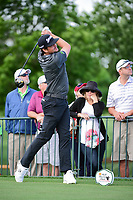 Keegan Bradley (USA) watches his tee shot on 18 during round 1 of the Shell Houston Open, Golf Club of Houston, Houston, Texas, USA. 3/30/2017.<br /> Picture: Golffile | Ken Murray<br /> <br /> <br /> All photo usage must carry mandatory copyright credit (&copy; Golffile | Ken Murray)