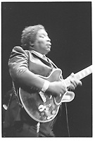 CHICAGO, ILLINOIS - 1980's: BB King performing at The Park West in Chicago, Illinois in the early 1980's.  <br /> CAP/MPI/GA<br /> &copy;GA/MPI/Capital Pictures