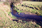 River cliff and slip off slope River Deben, Ufford, Suffolk, England