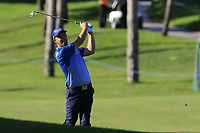 Padraig Harrington (IRL) plays his 2nd shot on the 17th hole during Thursday's Round 1 of the 2018 Turkish Airlines Open hosted by Regnum Carya Golf &amp; Spa Resort, Antalya, Turkey. 1st November 2018.<br /> Picture: Eoin Clarke | Golffile<br /> <br /> <br /> All photos usage must carry mandatory copyright credit (&copy; Golffile | Eoin Clarke)