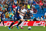 Levante UD's Sergio Postigo and Real Madrid CF's Lucas Vazquez during La Liga match. Aug 24, 2019. (ALTERPHOTOS/Manu R.B.)