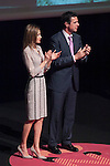 "Princess Letizia of Spain and Industry and Energy Minister Jose Manuel Soria attend ""PREMIOS NACIONALES DE LA MODA"" fashion awards ceremony at Reina Sofia museum in Madrid, Spain. June 06, 2013. (ALTERPHOTOS/Victor Blanco)"
