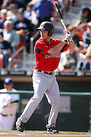 April 14, 2010:  Outfielder Josh Reddick of the Pawtucket Red Sox at bat during a game at Coca-Cola Field in Buffalo, New York.  Pawtucket is the Triple-A International League affiliate of the Boston Red Sox.  Photo By Mike Janes/Four Seam Images