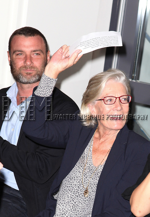 Liev Schreiber and Vanessa Redgrave attending the Unveiling of the Revitalized Public Theater at Astor Place in New York City on 10/4/2012.