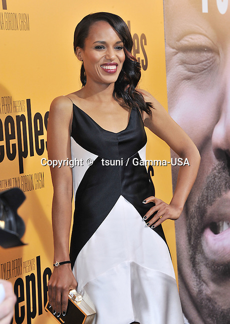 Kerry Washington  arriving at the PEEPLES Premiere at the Arclight Theatre in Los Angeles.