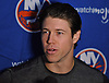 Matt Martin #17 of the New York Islanders speaks with reporters during the organization's Media Day at Northwell Health Ice Center in East Meadow on Thursday, Sept. 13, 2018.