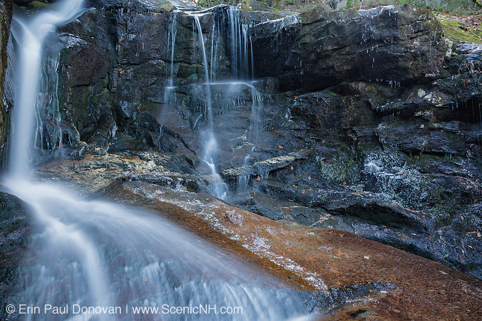 Erebus Falls on Townline Brook in the White Mountains, New Hampshire USA. These are a series of three waterfalls referred to as Triple Falls.