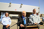 Israeli President Shimon Peres visited the Palmachim Air force Base, along with IDF Chief-of-Staff Lt. General Benny Gantz and Air Force Commander Major General Amir Eshel
