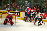 Montreal (Qc) CANADA -March 11 1996 File Photo-<br /> <br /> The last hockey game ever played at the Montreal Forum.