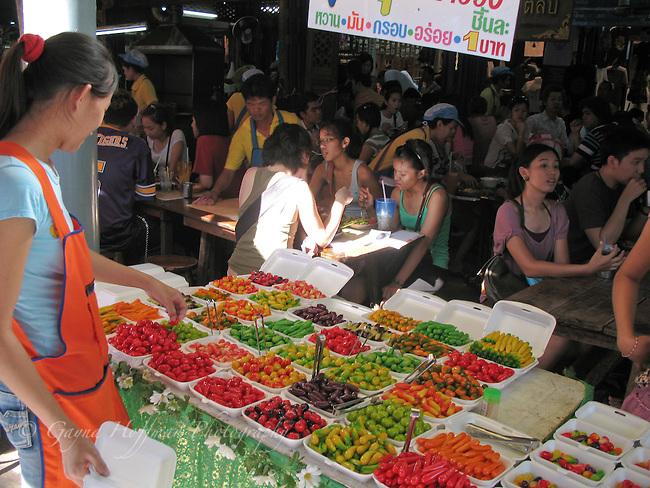 Chat a Chuk Market restaurant. Bangkok, Thailand