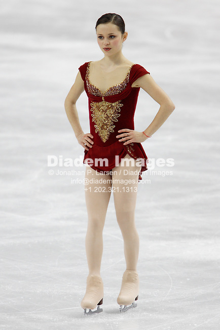 TURIN, ITALY - FEBRUARY 23:  Sasha Cohen of the USA gets set to begin her free skating routine during the 2006 Winter Olympics in Turin, Italy February 23, 2006.  (Photograph by Jonathan P. Larsen)