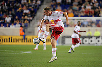 Jan Gunnar Solli (8) of the New York Red Bulls. The New York Red Bulls defeated the Portland Timbers 2-0 during a Major League Soccer (MLS) match at Red Bull Arena in Harrison, NJ, on September 24, 2011.