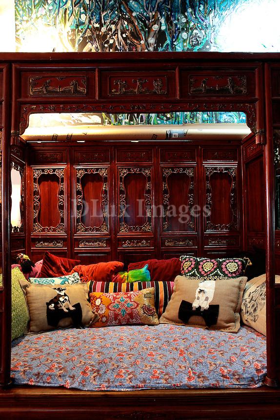 oriental wooden bed sofa