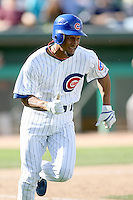 February 29, 2008: Eric Patterson of the Chicago Cubs at Hohokam Park during spring training in Mesa, AZ. Photo by:  Chris Proctor/Four Seam Images