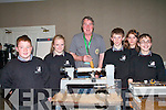 Killarney Community College students were among the visitors to the Irish Woodturners Guild at The Malton Hotel in Killarney at the weekend. .L-R Conor McCarthy, Saoirse Kelly, John McHugh of the Kerry Chapter of Irish Woodturners Guild. , Rossa Foley, Rachael O'Brien and Daniel Devlin.
