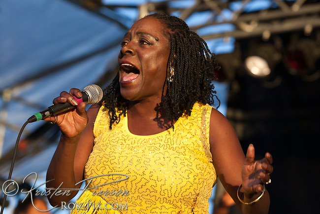 Sharon Jones and the DAP-Kings perform at the Life is Good Festival on September 23, 2012 in Canton, Massachusetts © Kristen Pierson