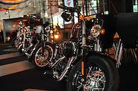 SAO PAULO, SP, 08.10.2013 -SALÃO DUAS RODAS - Abre hoje o 12º Salão Internacional de Motocicletas, Peças, Equipamentos e Acessórios.<br /> Local: Pavilhão de Exposições do Anhembi Avenida Olavo Fontoura, 1.209 - São Paulo / SP de 08 a 13 de outubro de 2013  (Foto: Adriano Lima / Brazil Photo Press)