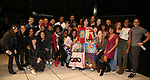 Afra Hines with the cast during the Opening Night Actors' Equity Gypsy Robe Ceremony honoring  Afra Hines for 'Summer:The Donna Summer Musical at Lunt-Fontanne Theatre on April 23, 2018 in New York City.