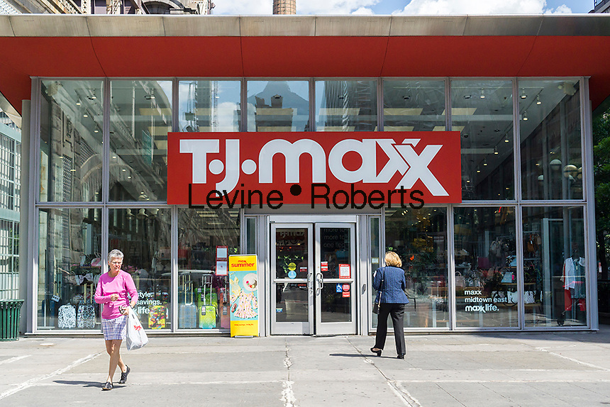 A TJX Cos. brand, T.J. Maxx store in  Manhattan in New York on Wednesday, June 28, 2017.  (© Richard B. Levine)