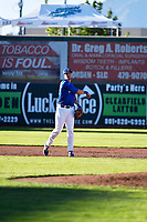 Brock Carpenter (28) of the Ogden Raptors on defense against the Orem Owlz in Pioneer League action at Lindquist Field on June 22, 2017 in Ogden, Utah. The Owlz defeated the Raptors 13-8.  (Stephen Smith/Four Seam Images)