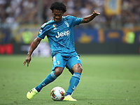 Calcio, Serie A: Parma - Juventus, Parma stadio Ennio Tardini, 24 agosto 2019. <br /> Juventus' Juan Cuadrado in action during the Italian Serie A football match between Parma and Juventus at Parma's Ennio Tardini stadium, August 24, 2019. <br /> UPDATE IMAGES PRESS/Isabella Bonotto