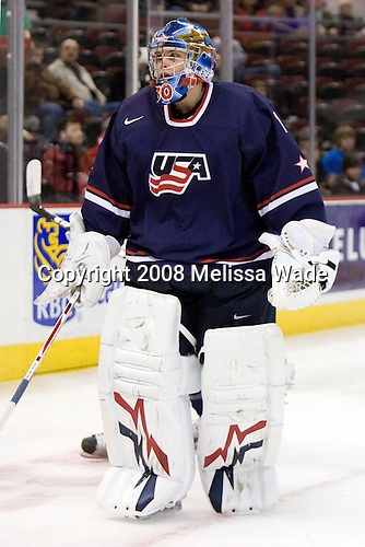 Josh Unice (USA - 1) - The US defeated Kazakhstan 12-0 on Tuesday, December 30, 2008, at Scotiabank Place in Kanata (Ottawa), Ontario during the 2009 World Junior Championship.