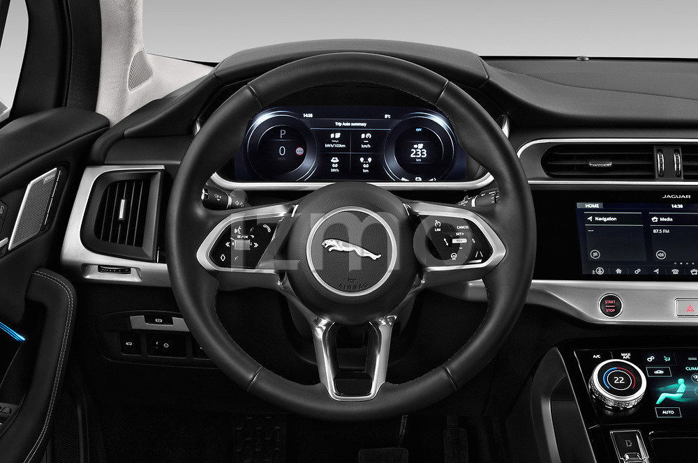 Car pictures of steering wheel view of a 2019 Jaguar I Pace S 5 Door SUV
