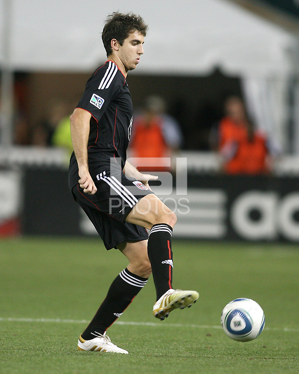Dejan Jakovic #5 of D.C. United controls the ball during an MLS match against Real Salt Lake at RFK Stadium, on June 5 2010 in Washington DC. The game ended in a 0-0 tie.