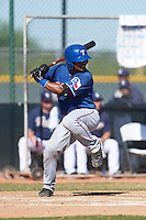 Texas Rangers Sherman Lacrus (3) during an instructional league game against the San Diego Padres on October 9, 2015 at the Surprise Stadium Training Complex in Surprise, Arizona.  (Mike Janes/Four Seam Images)