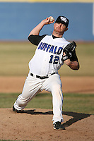April 5, 2009:  Relief pitcher Zach Anderson (12) of the University of Buffalo Bulls during a game at Amherst Audubon Field in Buffalo, NY.  Photo by:  Mike Janes/Four Seam Images