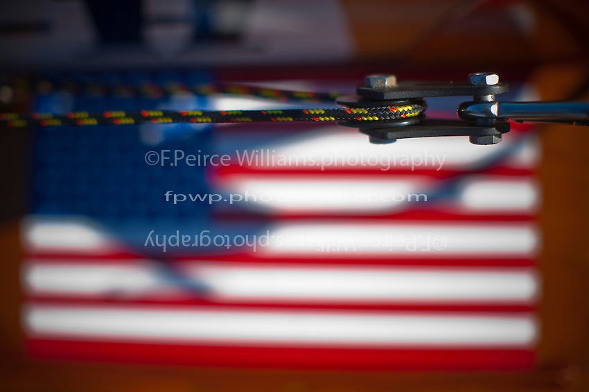 Steering Pully, American Flag