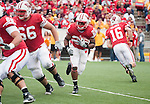 Wisconsin Badgers running back James White (20) carries the ball during an NCAA college football game against the Arizona State Sun Devils on September 18, 2010 at Camp Randall Stadium in Madison, Wisconsin. The Badgers beat the Sun Devils 20-19. (Photo by David Stluka)
