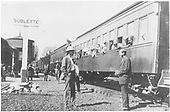 D&amp;RGW San Juan stopped at Sublette with passengers on the ground.<br /> D&amp;RGW  Sublette, NM  ca. 1920