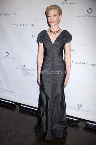 Cate Blanchett at the opening gala for 'Set In Style: The Jewelry Of Van Cleef & Arpels' at the Cooper-Hewitt, National Design Museum  in New York City. February 16, 2011 © MPI01 / MediaPunch Inc.