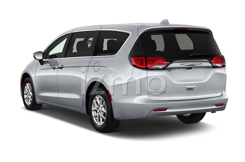 Car pictures of rear three quarter view of 2017 Chrysler Pacifica LX 5 Door Minivan Angular Rear