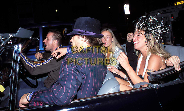 JAY KAY & COSMO JENKS.GQ Men Of The Year Awards, Royal Opera House.car, convertible, soft top, hat.www.capitalpictures.com.sales@capitalpictures.com.© Capital Pictures