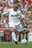 03.06.2012 SPAIN -  Corazon Classic Match 3rd Match played between Real Madrid CF vs Manchester United (3-2) at Santiago Bernabeu stadium. The picture show Roberto Carlos