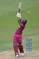 Evin Lewis (West Indies) takes the aerial route and drives straight  during West Indies vs New Zealand, ICC World Cup Warm-Up Match Cricket at the Bristol County Ground on 28th May 2019