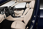 Front seat view of 2017 Mercedes Benz C Class 300 4 Door Sedan front seat car photos