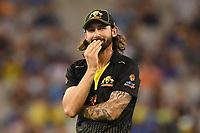 1st November 2019; Melbourne Cricket Ground, Melbourne, Victoria, Australia; International T20 Cricket, Australia versus Sri Lanka; Kane Richardson of Australia reacts after dropping a catch - Editorial Use
