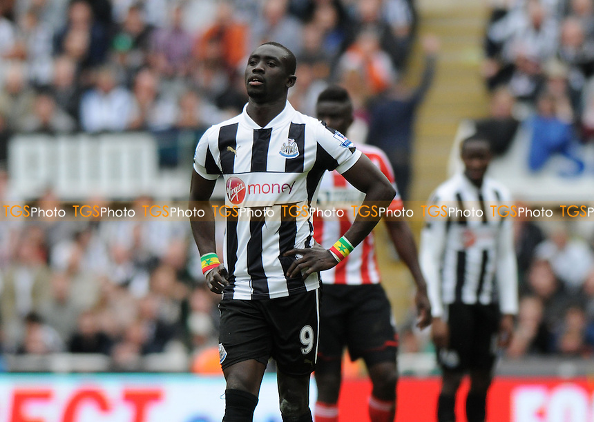 A dejected Newcastle United striker Papiss Demba Cissé - Newcastle United vs Sunderland - Barclays Premier League Football at St James Park, Newcastle upon Tyne - 14/04/13 - MANDATORY CREDIT: Steven White/TGSPHOTO - Self billing applies where appropriate - 0845 094 6026 - contact@tgsphoto.co.uk - NO UNPAID USE