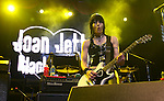Joan Jett performs at the Sommet Center in Nashville, Tennessee on Friday, August 1, 2008.  (Photo by Frederick Breedon IV)